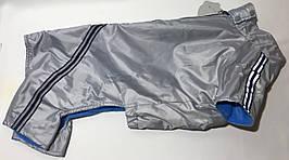 Комбінезон фліс 47 см розм Такса велика сірий (срібло) для собак