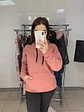 Женский костюм толстовка худи + штаны с лампасами на меху, фото 4