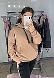 Женский костюм толстовка худи + штаны с лампасами на меху, фото 8