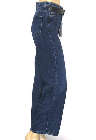 Жіночі розклішоні джинси труби Pozitif jeans 100% cotton, фото 2
