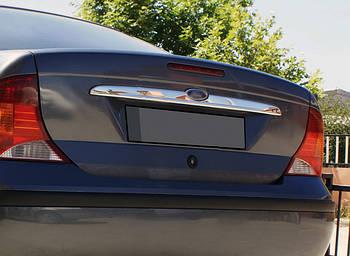 Ford Focus I 1998-2005 гг. Планка над номером (Sedan, нерж.)