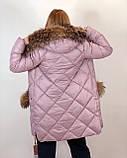 Тёплая зимняя куртка с натуральным мехом, фото 4