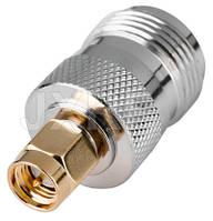 Коннектор N типа мама - SMA папа SMA connector N female to SMA male, фото 1