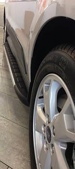 Ford Ranger 2011↗ гг. Боковые пороги Duru (2 шт., алюминий)