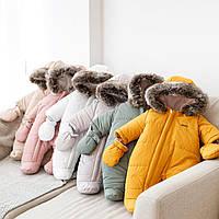 """Зимний стеганый комбинезон """"Аляска"""" разные цвета. Размеры  62,68,74р., фото 1"""