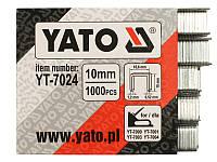 Скобы оцинкованные для строительного степлера 10мм Yato YT-7024