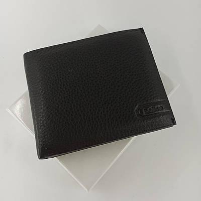 Черный кожаный мужской кошелек портмоне с зажимом для денег Balisa  PY-009-104