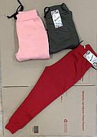 Штаны спортивные для девочек 9-12 тринитки с начёсом