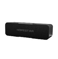 Портативная влагозащищенная стерео Bluetooth колонка Hopestar H13 блютуз для музыки на улице и дома черная