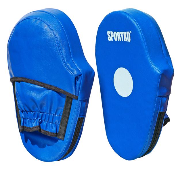 Лапы боксёрские Sportko ПД3 (пара), кожвинил, р.30х20х5см, синие