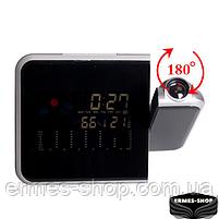 Домашня метеостанція з годинником і проектором часу Color Screen Calendar, фото 3