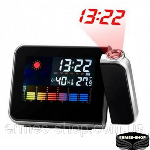 Домашня метеостанція з годинником і проектором часу Color Screen Calendar