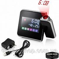 Домашня метеостанція з годинником і проектором часу Color Screen Calendar, фото 7