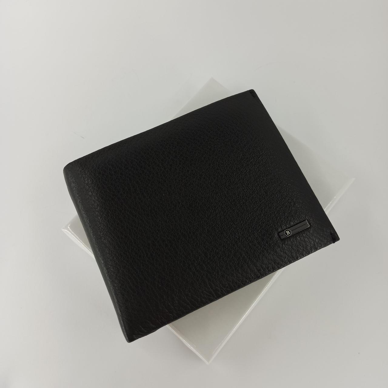 Черный кожаный мужской кошелек портмоне с зажимом для денег Balisa  PY-009-102
