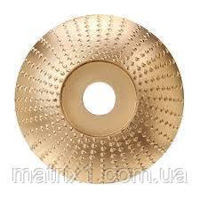 "Шлифовальный круг по дереву, пластику ""тарелка"" 98х16 мм Drillpro Gold"