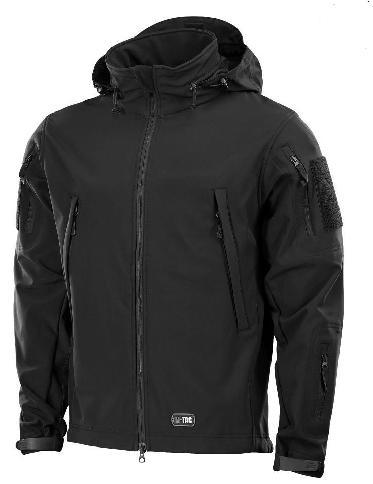 Демісезонна тактична куртка M-TAC Soft Shell (black)