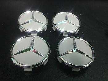 Mercedes GL klass X164 Колпачки в оригинальные диски 71 мм (серые, 4 шт)
