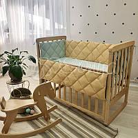 Комплект постелі в дитячу ліжечко, РІЗНІ КОЛЬОРИ (простирадло, борти), фото 1