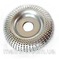 """Шлифовальный круг по дереву, пластику """"выпуклый"""" 125х22,2 мм Drillpro Silver"""
