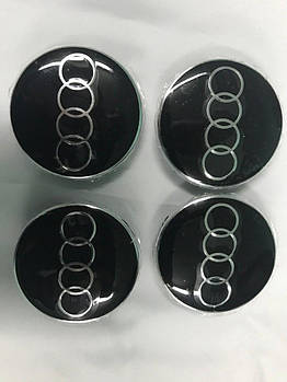 Audi ТТ 1999-2015 гг. Колпачки в титановые диски (4 шт) 64,5 мм