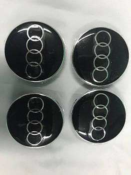 Audi Q3 2011↗ гг. Колпачки в титановые диски (4 шт) 64,5 мм