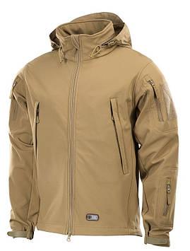 Демисезонная тактическая куртка M-TAC Soft Shell (tan)