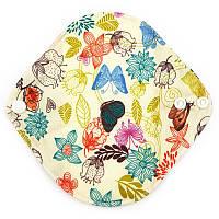 Ежедневная многоразовая прокладка из бамбукового органического волокна с рисунком 17,5 см 2