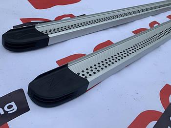 Fiat Talento 2016↗ гг. Боковые пороги Maya V2 (2 шт., алюминий) Длинная база