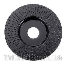 """Шлифовальный круг по дереву, пластику """"плоский"""" 125х22,2 мм Drillpro Black"""