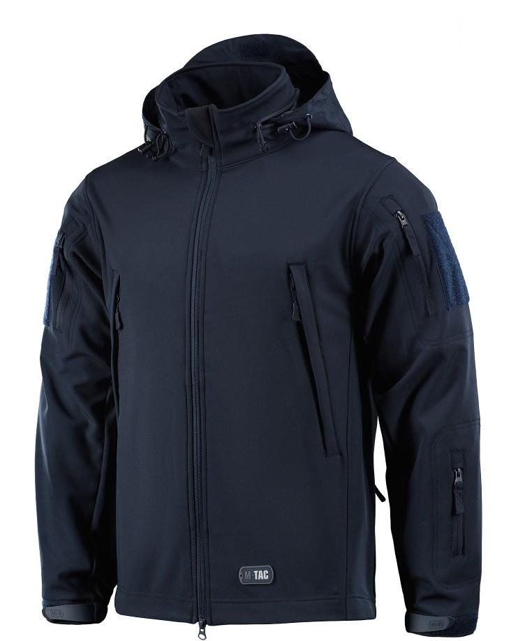 Демисезонная тактическая куртка M-TAC Soft Shell (navy blue)