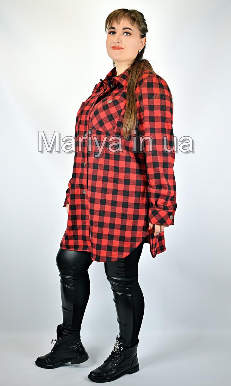 Рубашка женская большие размеры от 60 до 66