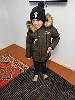 Куртка детская зимняя для мальчиков рост 104см 116см