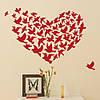 Интерьерная наклейка Сердце из птиц