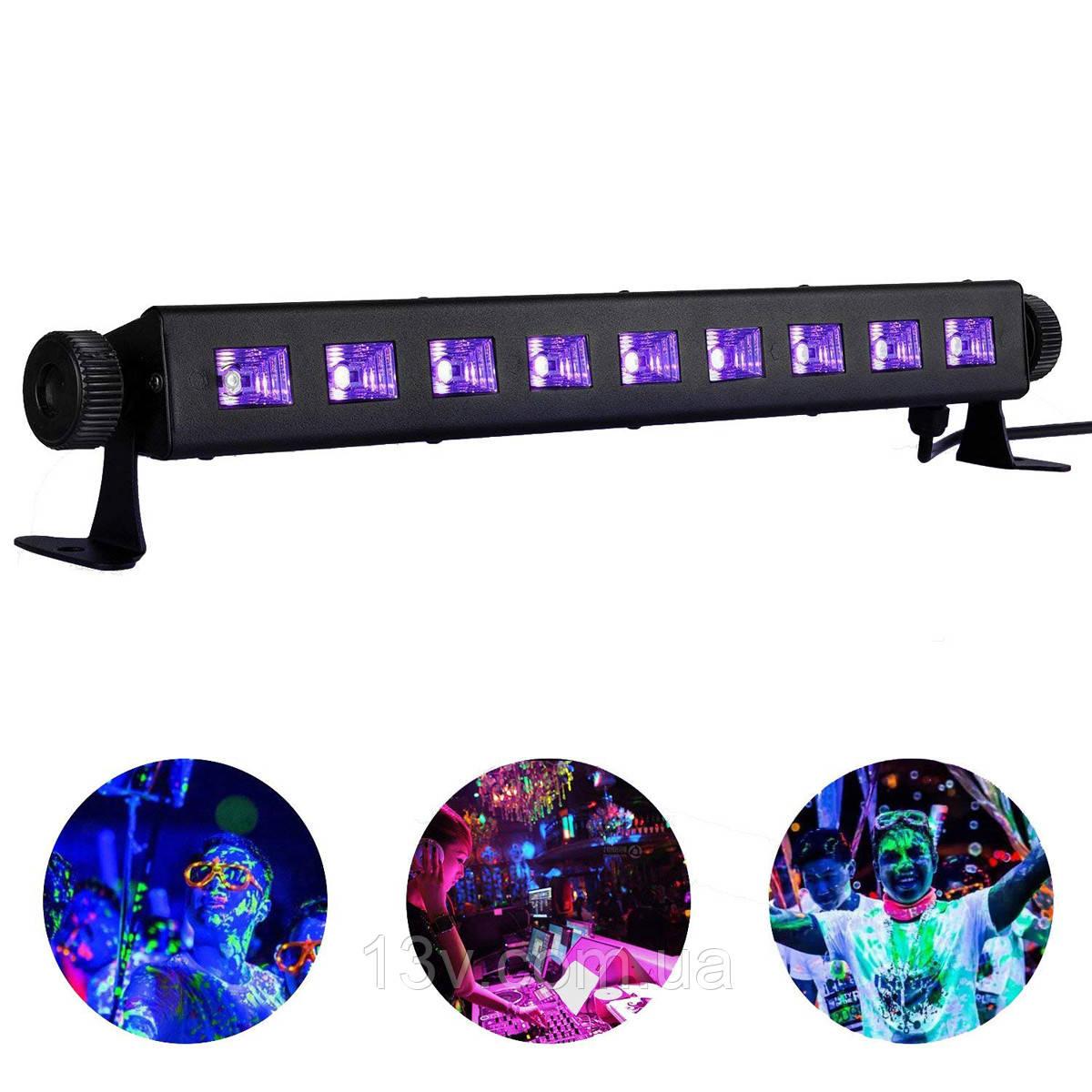 BIG Ультрафиолет  планка  LEDUV 9*3W