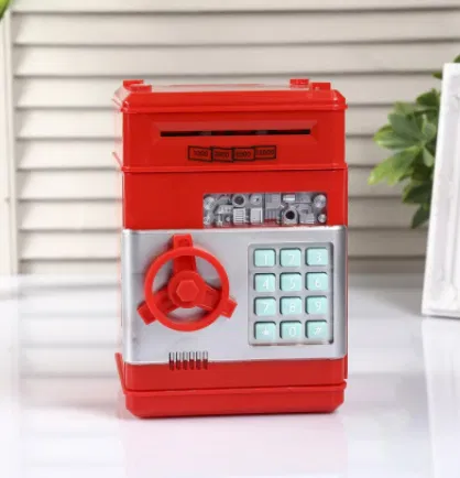Детская копилка электронная сейф купюроприемник монеты банкомат