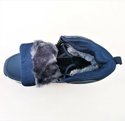 Ботинки ЕССО Зимние Синие Мужские на Меху Экко (размеры: 41,42,44,45,46) Видео Обзор, фото 3