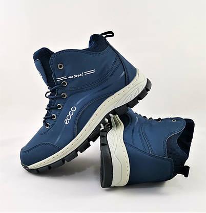 Ботинки ЕССО Зимние Синие Мужские на Меху Экко (размеры: 41,42,44,45,46) Видео Обзор, фото 2