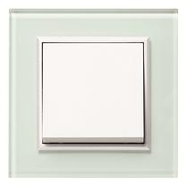 Рамка 2Х вертикальная Lumina-Passion серебряный алюминий, фото 2