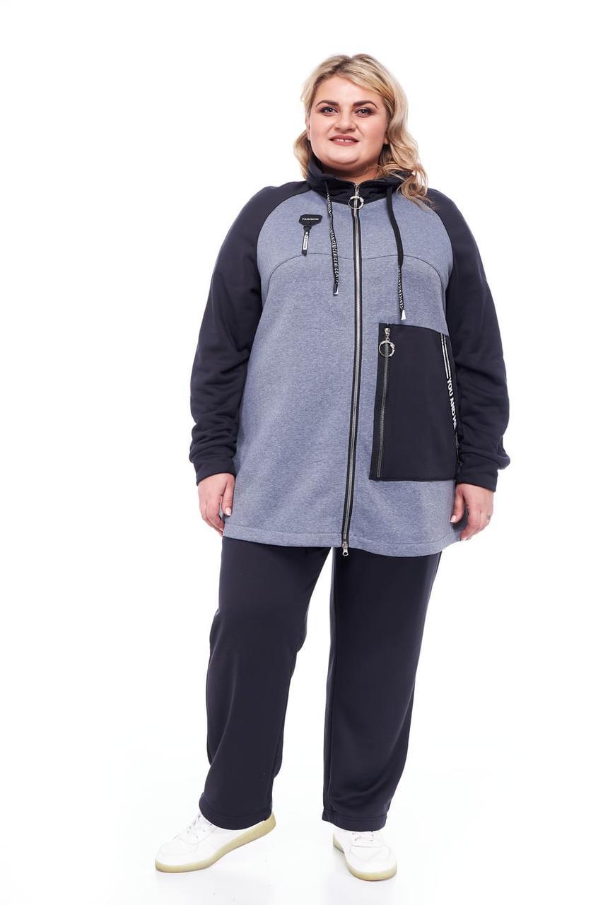 Спортивний костюм жіночий великі розміри від 66 до 76