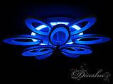 Стельова світлодіодна люстра з різнокольоровою підсвіткою 1673/6+3WH LED 3color dimmer, фото 5