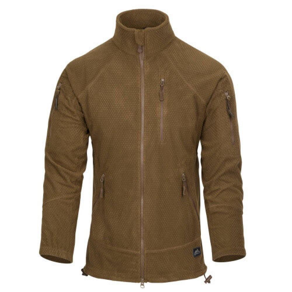 Тактична флісова куртка/ кофта Helikon-Tex® ALPHA TACTICAL fleece (коричневий)
