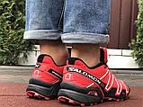 Salomon Speedcross 3 демисезонные мужские кроссовки в стиле Саломон красные, фото 5