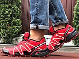 Salomon Speedcross 3 демисезонные мужские кроссовки в стиле Саломон красные, фото 2