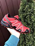 Salomon Speedcross 3 демисезонные мужские кроссовки в стиле Саломон красные, фото 4