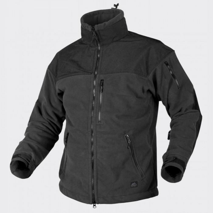 Тактическая флисовая куртка/ кофта Helikon-Tex® Classic Army Windblocker (черная)