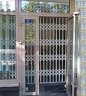 Защитная раздвижная решетка на дверь Шир.3000*Выс3000мм для машгазина