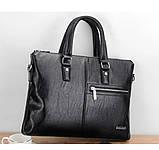 Качественная коричневая большая мужская сумка, фото 2