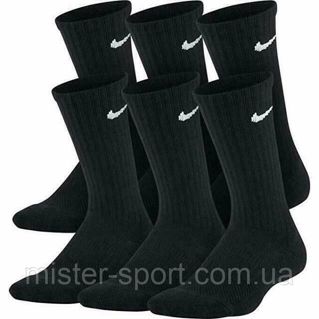 Носки для тенниса и спорта Nike Cushion Cotton Crew 6 пар в упаковке черные
