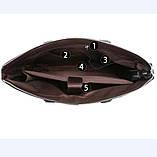 Качественная коричневая большая мужская сумка, фото 9