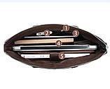 Качественная коричневая большая мужская сумка, фото 10